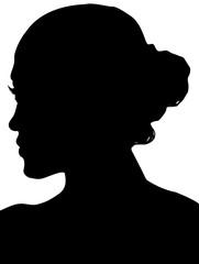 silhouette de jeune fille