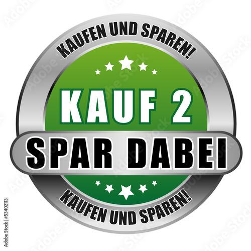 5 Star Button grün KAUF 2 SPAR DABEI KUS KUS