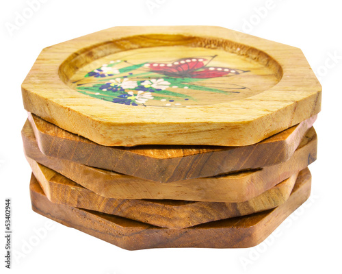 wooden coasters for glass