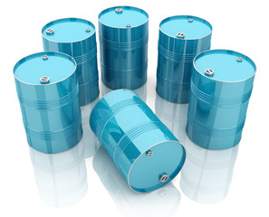 3d steel drums - shipping containers