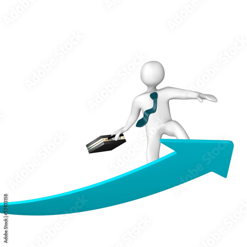 Success Arrow Surfer