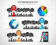Infographics concept background art