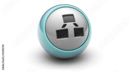 Roger icon on ball. Looping.