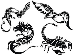 Tattoo design of animals