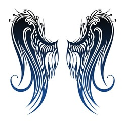 Wings. Tattoo design
