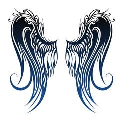 Wings. Tattoo design
