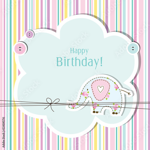 Cute Birthday card with copy space