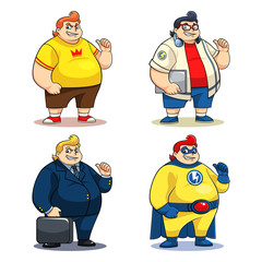 Mr. Bigger Characters. Vector EPS10 file.