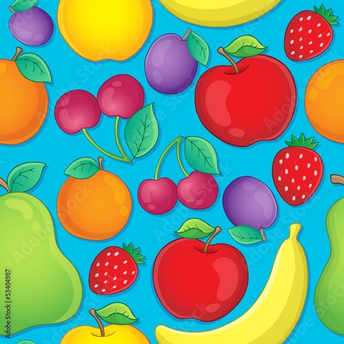 Seamless background fruit theme 2