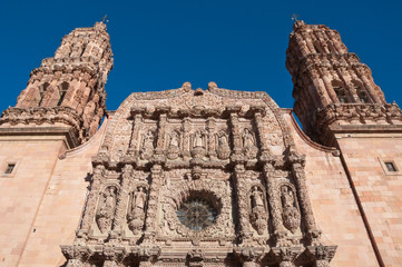 Facade of the Cathedral of Zacatecas (Mexico)
