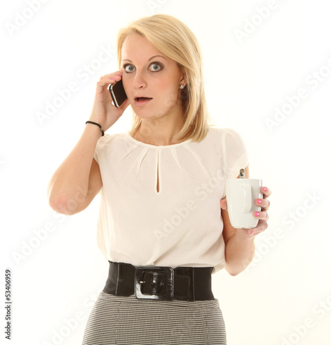 Blonde Business Frau