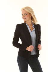 Blonde Business Frau