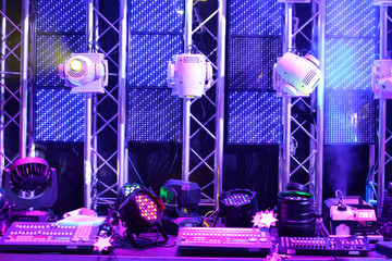 Lighting equipment and controls for clubs and concert halls