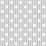 Gray and White Polka Dot and Stripes Fabric Background