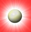 sfera su sfondo rosso
