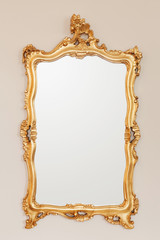 Golden mirror frame