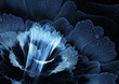 Blue futuristic flower