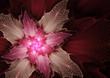 Purple futuristic flower background