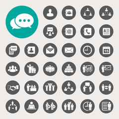 Business icons set. Illustration