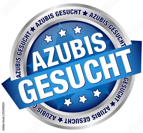 """Button Banner """"Azubis gesucht"""" blau/silber"""