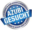 """Button Banner """"Azubi gesucht"""" blau/silber"""