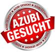 """Button Banner """"Azubi gesucht"""" rot/silber"""