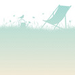 Summer Meadow Canvas Chair Turquoise/Beige Dots