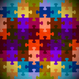 puzzle game color grunge background vector