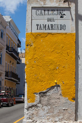 Colorful signs on San Juan street