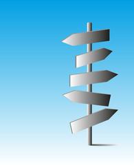 illustrazione vettoriale di frecce che indicano