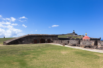 El Morro fort and Lighthouse (El faro del Morro) in Old San Juan