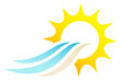 Sun, Waves & Beach Logo