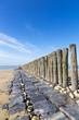 Nordsee Strand Buhnen vertikal