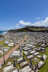Fort and Santa Maria Magdalena de Pazzis colonial cemetery