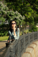 Asian woman outdoors