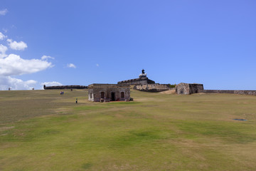 El Morro fort and Lighthouse (El faro del Morro) in puerto Rico