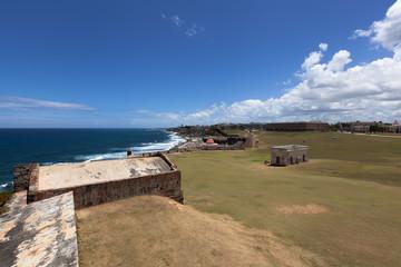 El Morro fortifications, Old San Juan in background