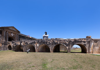 El Morro Fort and lighthouse in Puerto Rico