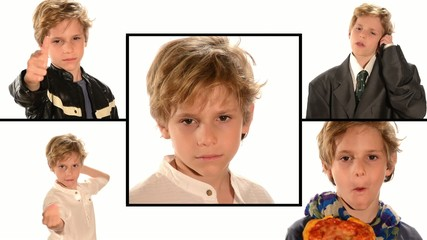 blond kid collage