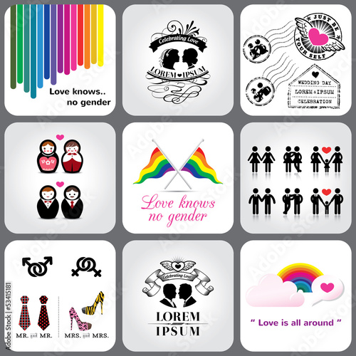Gay & Lesbian Icon and Design Element