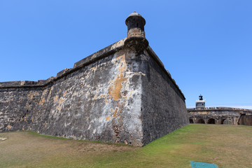 El Morro Fort Watch Tower , lighthouse in background