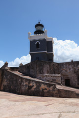 LIghthouse at  El Morro Fort   in San Juan