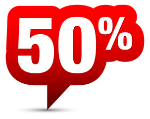 """Icon Sale """"50%"""" Red"""