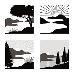 Landschaft Icons