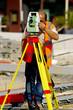géomètre au travail