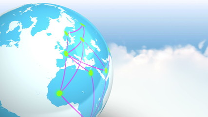 Few localisation with social network in the world