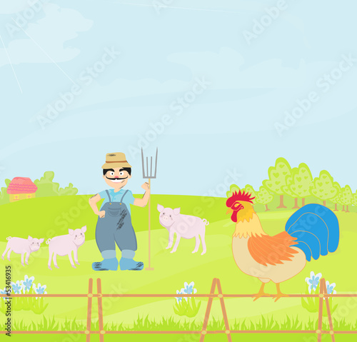 Cartoon Farmer Character