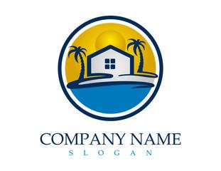 Beach real estate logo