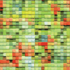 Abstract Patchwork Seamless Background In Spring Colors