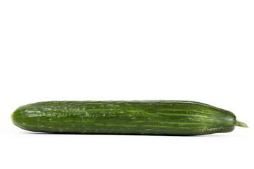 Salatgurke auf weiß isoliert